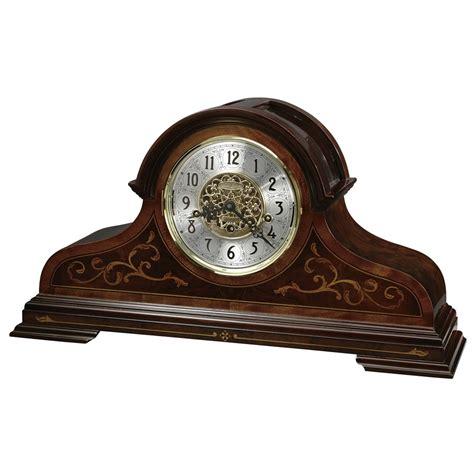 howard miller curio bradley key wound mantel clock with keywound triple chime