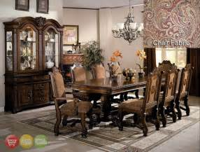 11 dining room set neo renaissance formal dining room furniture set with optional china cabinet
