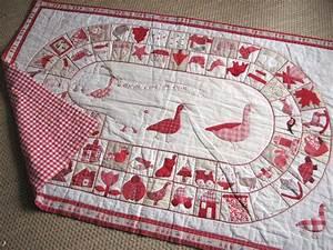 le jeu de l39oie tapis jeu enfants patchwork applique With tapis enfant avec canapé en ligne