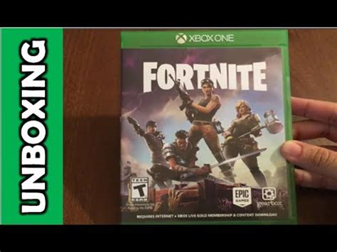 fortnite xbox  unboxing youtube