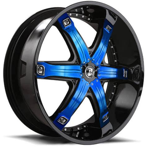 diablo wheels fury black  custom finish inserts