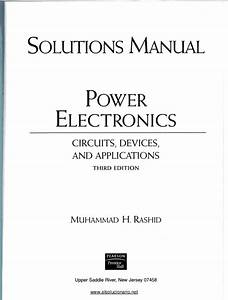 Pdf  Solutions Manual Power Electronics Circuits  Devices