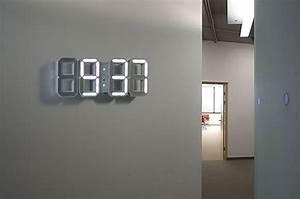 Horloge Murale Led : horloge murale led pile ~ Teatrodelosmanantiales.com Idées de Décoration