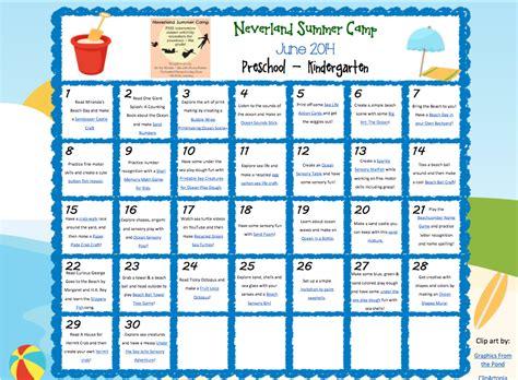 neverland summer camp for preschool amp kindergarten june 859 | june calendar screenshot