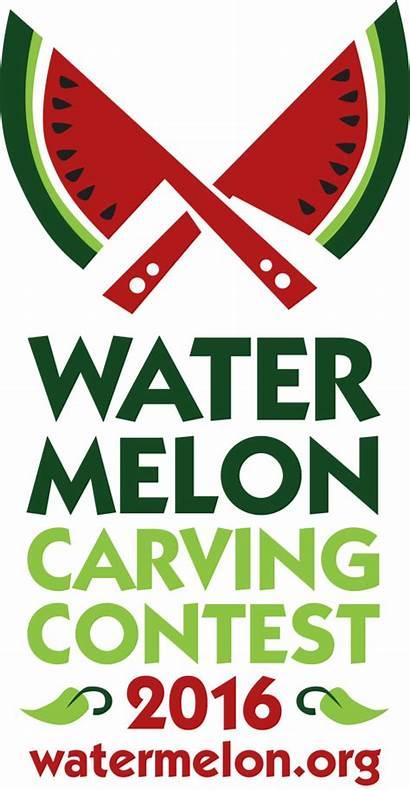 Watermelon Contest Carving Begun Cutting Break Board