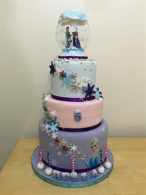 frozen  tier cake cakecentralcom