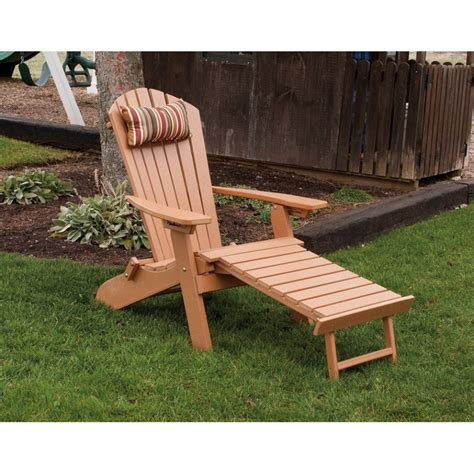 folding reclining poly fanback adirondack chair w pull