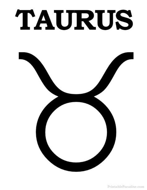 Printable Taurus Zodiac Sign - Print Taurus Symbol