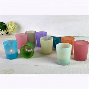 Teelichthalter Glas Bunt : teelichtglas teelichthalter glas teelichter windlicht ~ Watch28wear.com Haus und Dekorationen