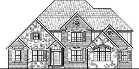 stone tudor style house floor plans drawings  bedroom  story blueprints