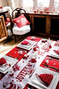 Table De Noel Traditionnelle : no l traditionnel en rouge et blanc id es de f tes ~ Melissatoandfro.com Idées de Décoration