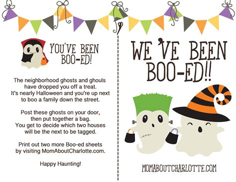 boo sheets halloween boo ing for your neighborhood free download