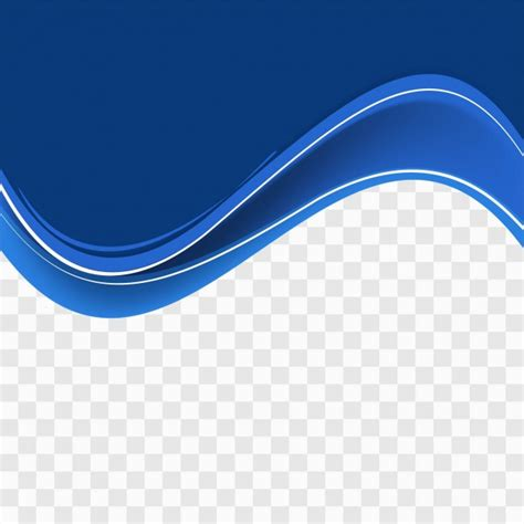 Images With Transparent Background by Blue Wavy Shape On Transparent Background Vector Free