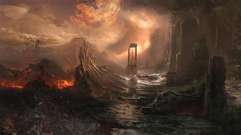 artwork, Fantasy art, Lava, Planet Wallpapers HD / Desktop ...