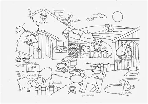 disegni per bambini animali della fattoria disegno animali della fattoria da colorare e stare