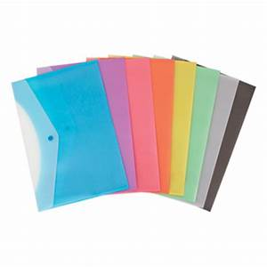 geo frosted snap button side opening plastic document With plastic letter envelopes
