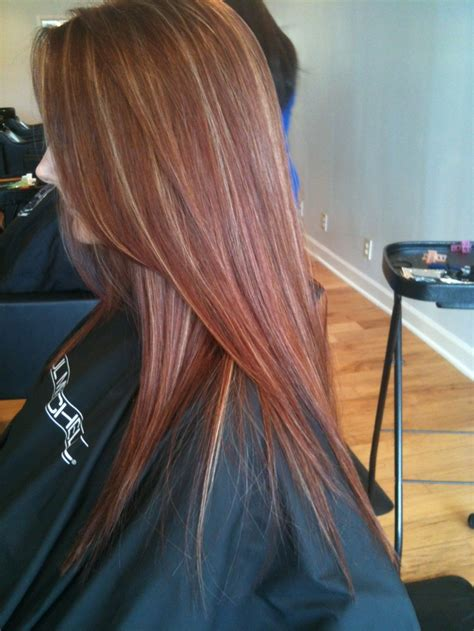 red hair blonde highlights hairstyles pinterest red