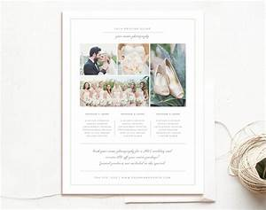 wedding pricing guide flyer templates creative market With wedding photography pricing guide