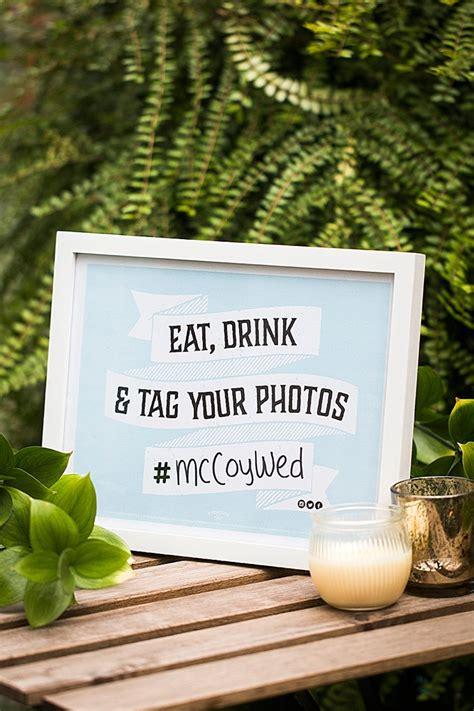 hashtag wedding printable sign wedding inspiration