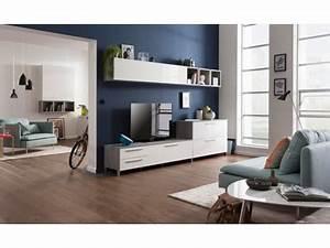 Meuble Tv Beton : meuble tv modello b ton blanc brillant beton blanc brillant ~ Teatrodelosmanantiales.com Idées de Décoration