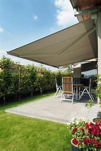 sonnenschutz fur ihre terrasse komfortable schattenspender With markise balkon mit tapete kaffee motiv