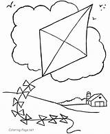 Kite Coloring Pages Print sketch template