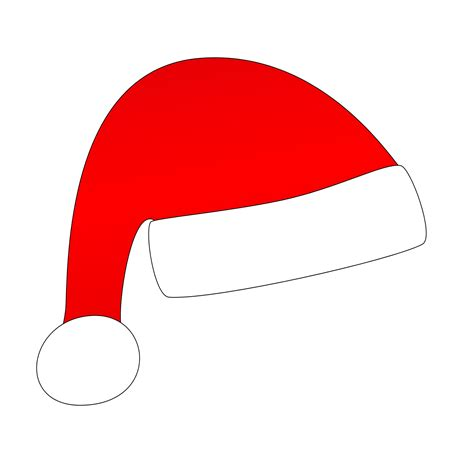 cartoon santa hat clipart best