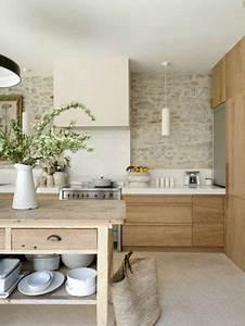 cuisine en bois de beaux modeles deco pour sinspirer With idee couleur mur salon 14 cuisine rustique idee deco cuisine ancienne marie claire