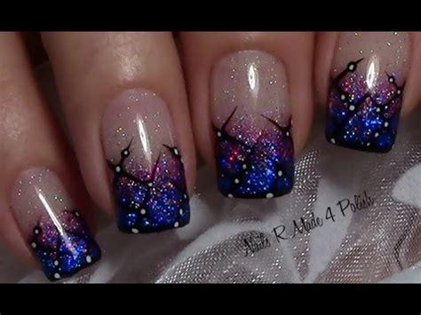 nageldesign rosa holo glitzer nageldesign mit streifenmuster n 228 gel lackieren nail design tutorial