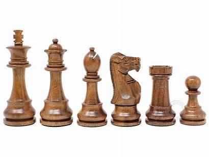 Chess Pieces Unique King Golden Tournament Boxwood