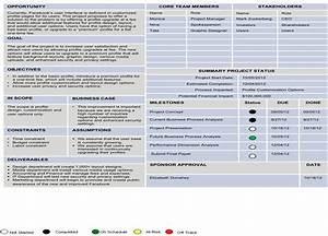 8 best images of one page project charter template With one page project charter template