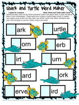 controlled vowels games  ar er ir  ur words