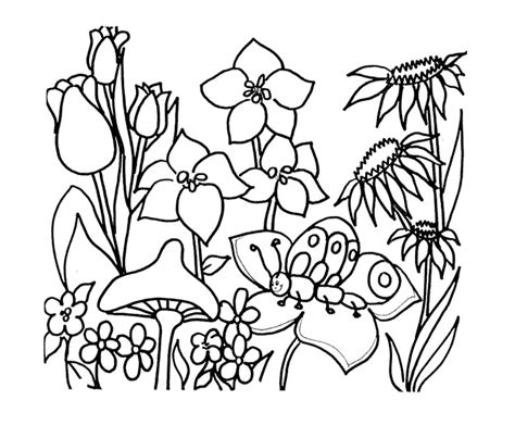 drawings  spring flowers clipartsco