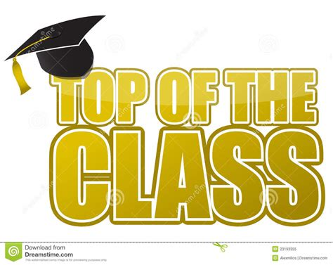 Top Of The Class Graduation Cap Illustration Stock Vector