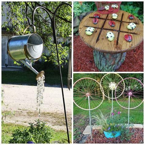Garden Decoration Ideas by 15 Diy Garden Decor Ideas Watering Can Spin Wheelliving