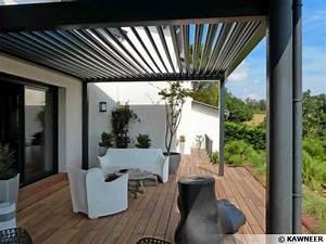 Pergola Bois Bioclimatique : la pergola bioclimatique pour une terrasse design ~ Louise-bijoux.com Idées de Décoration