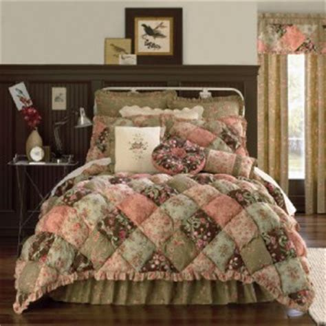 new jcpenney dusty rose puff top full comforter set ebay
