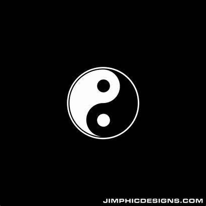 Yang Symbol Yin Animation Forming Side Designs
