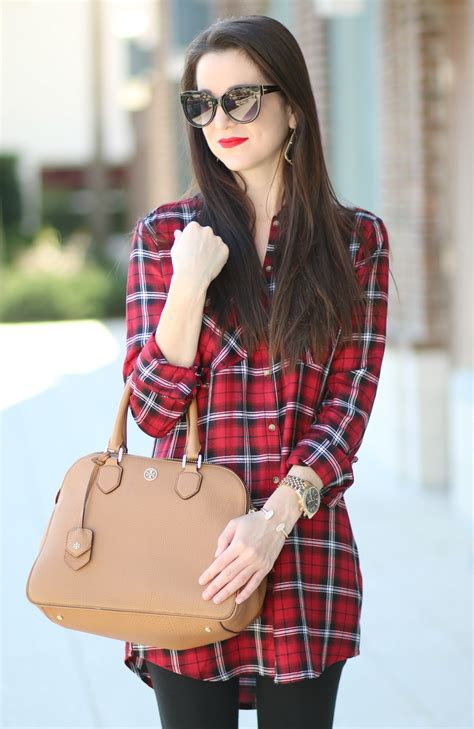 Red Plaid Shirt Dress - Diary of a Debutante