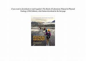 Review Epub Laboratory Manual In Physical Geology  10th