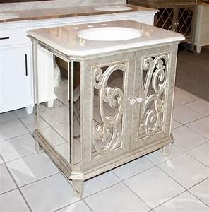 Antiqued Mirrored Bathroom Vanity BA948529