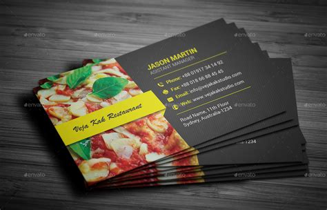 Restaurant Business Card By Vejakakstudio Business Cards Apps For Iphone In American Psycho Avery Microsoft Word And Flyers Templates Make Your Own App 8371 Free Template Die Cut Nz Square Dimensions