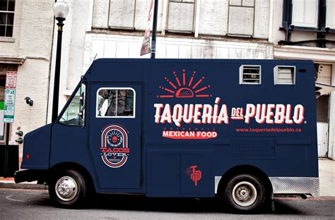 taqueria del pueblo food truck branding grits grids