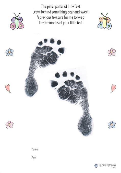 butterfly  baby inkless handprint footprint kit