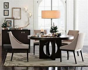 Plafonnier Salle à Manger : salle manger table ronde luminaire ideeco ~ Teatrodelosmanantiales.com Idées de Décoration