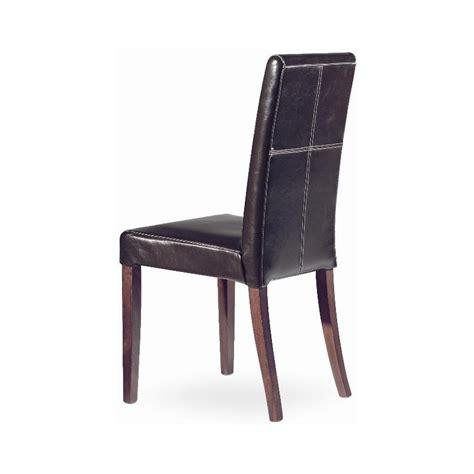 chaise et table de restaurant chaise cuir modrene avec pieds bois