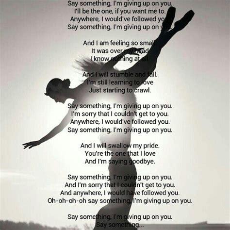Christina Aguilera Say Something Quotes Quotesgram