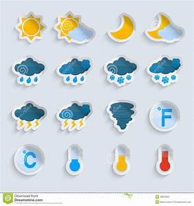 Weather Forecast Paper Set Stock Vector - Image: 39503337