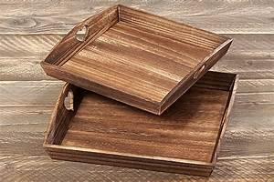 Tablett Aus Holz : dekotablett set mit herzen aus holz fr hst ckstablett tablett holztablett ~ Buech-reservation.com Haus und Dekorationen