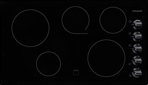 frigidaire ffecpb   electric cooktop   heating zones ceramic glass construction